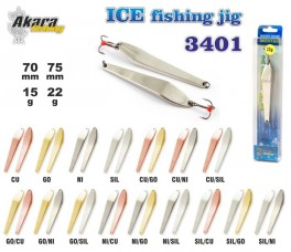 Ziemas māneklis «Ice Jig» 3401 (vert., 75 mm, 22 g, krāsa: Ni/Cu, iepak. 1 gab.)