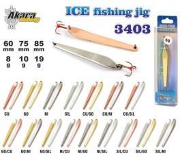 Ziemas māneklis «Ice Jig» 3403 (vert., 60 mm, 8 g, krāsa: NI/GO, iepak. 1 gab.)