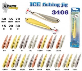 Ziemas māneklis «Ice Jig» 3406 (vert., 70 mm, 30 g, krāsa: Ni, iepak. 1 gab.)