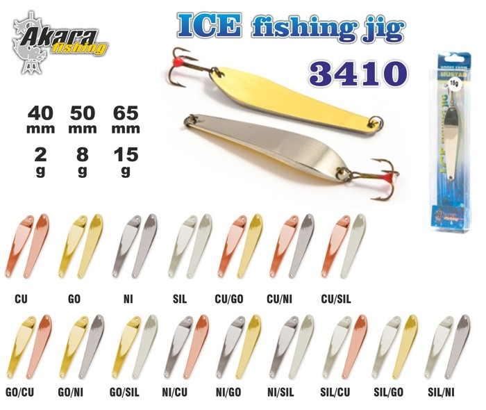 Ziemas māneklis «Ice Jig» 3410 (vert., 65 mm, 15 g, krāsa: SIL, iepak. 1 gab.)