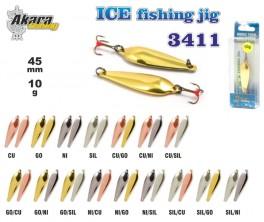 Ziemas māneklis «Ice Jig» 3411 (vert., 45 mm, 10 g, krāsa: GO/CU, iepak. 1 gab.)