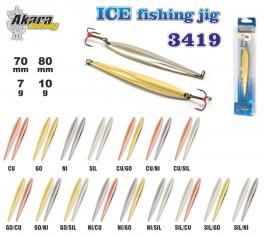 Ziemas māneklis «Ice Jig» 3419 (vert., 80 mm, 10 g, krāsa: SIL, iepak. 1 gab.)