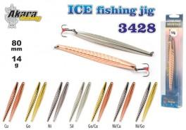 Ziemas māneklis «Ice Jig» 3428 (vert., 80 mm, 14 g, krāsa: Sil, iepak. 1 gab.)
