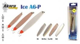 Зимняя блесна «ICE» A6 (верт., 50 мм, 4 г, цвет: NI, упак. 1 шт.)