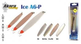 Зимняя блесна «ICE» A6 (верт., 60 мм, 8 г, цвет: SIL, упак. 1 шт.)
