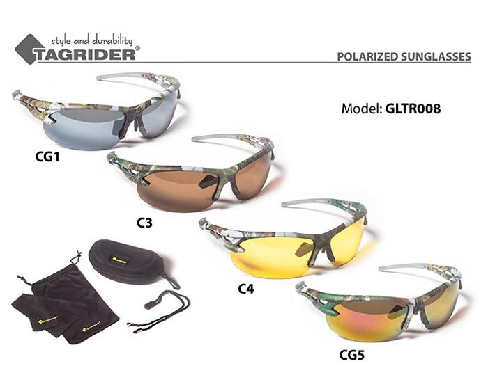 Saulesbrilles TAGRIDER TR 008 (polarizētas, filtru krāsa: C4)