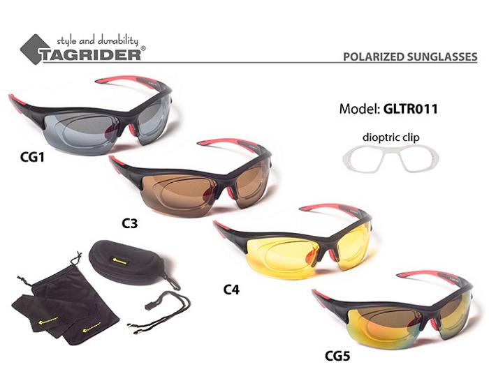 Saulesbrilles TAGRIDER TR 011 (polarizētas, filtru krāsa: CG5)