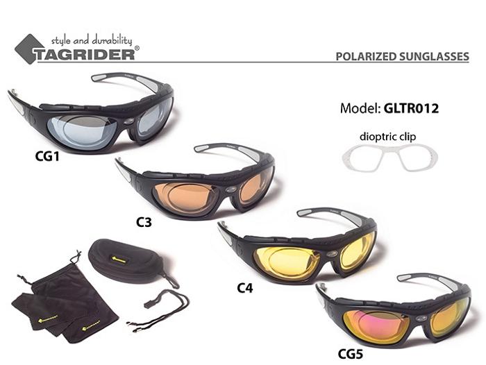 Saulesbrilles TAGRIDER TR 012 (polarizētas, filtru krāsa: C4)