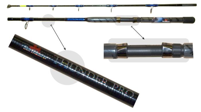 Makšķerkāts SURF MASTER «THUNDER Pro» 1454 2X (saliek., 1,65 m, stiklšķ., 280 g, tests: 300-500 g)
