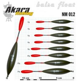 @ Поплавок AKARA NM 012 (бальса, 12 г, 15,0 см, упак. 10 шт.)