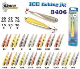 Зимняя блесна «Ice Jig» 3406 (верт., 70 мм, 30 г, цвет: CU/NI, упак. 1 шт.)