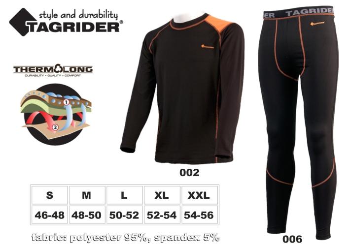 Термофутболка TAGRIDER ADVANCED Ultra (размер: XL, цвет: оранжевый \ чёрный)