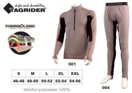 Термофутболка TAGRIDER «NORDLAND» (размер: S, цвет: серый \ оранжевый \ чёрный)
