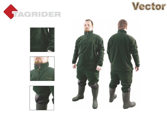 Костюм TAGRIDER «VECTOR» флис (размер: L, цвет: зелёный)