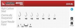 Крючки KUJIRA 104 (№ 16, BL, универсальные, упак. 10 шт.)