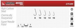 Крючки KUJIRA 175 (№ 16, BN, универсальные, упак. 10 шт.)