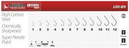 Крючки KUJIRA 180 (№ 1, RED, универсальные, упак. 10 шт.)