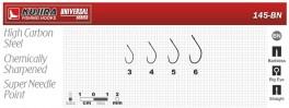 Крючки KUJIRA 145 (№ 6, BN, универсальные, упак. 6 шт.)