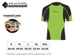 Termo apakškrekls TAGRIDER SOUTH WIND (izmērs: XL, krāsa: melna/zaļa)