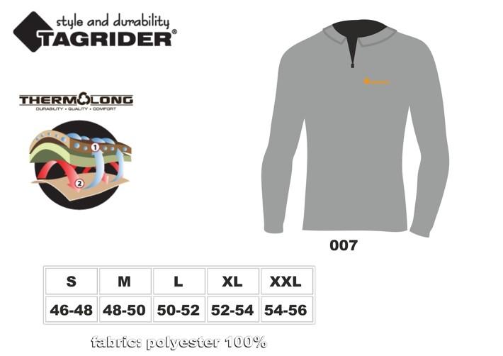 Термофутболка TAGRIDER TRAVEL Light (размер: XL, цвет: чёрный \ серый)