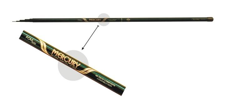 @ Makšķerkāts LB AKARA «MERCURY Pole» 70038 (telesk., 4,00 m, kompoz., 210 g, tests: 5-20 g) b/r
