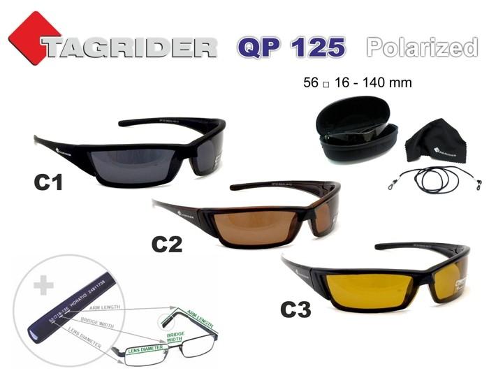 Saulesbrilles TAGRIDER QP125 (polarizētas, filtru krāsa: C3)