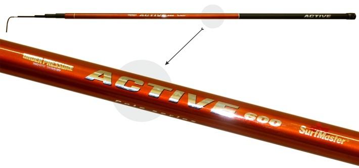 Makšķerkāts LB SURF MASTER «ACTIVE Pole TX-20» (telesk., 5,00 m, oglekļšķ., 214 g, tests: 5-20 g) b/r