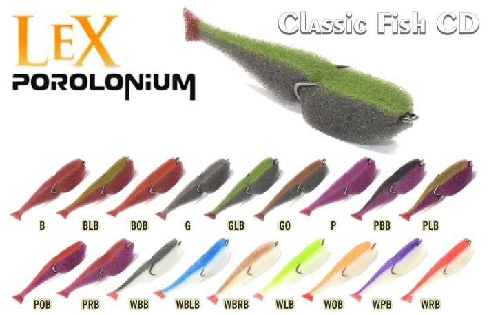 Поролоновая приманка LEX Porolonium CD (двойник, 8 см, цвет: PLB, уп. 10 шт.)
