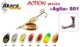 Māneklis AKARA «Aglia» Action S01 RT (rotējošs, 5 g, Nr.2, krāsa: A34, iep. 1 gab.)