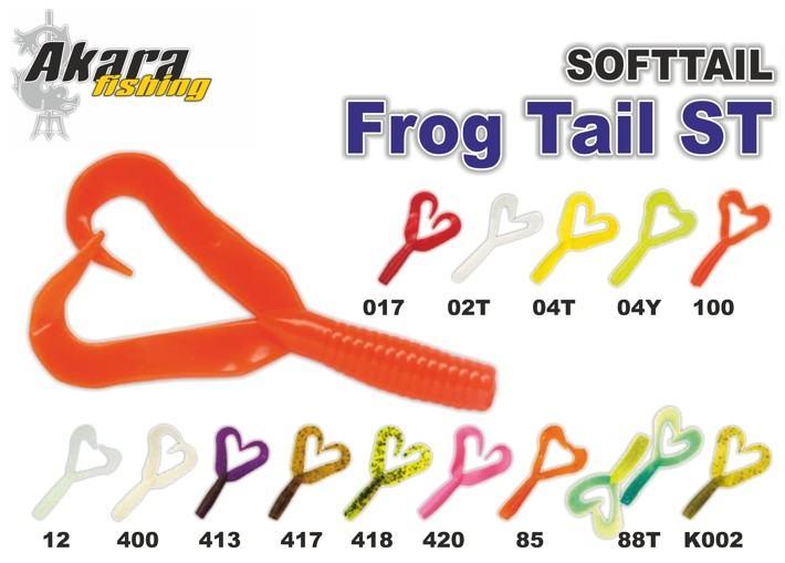 Silikona māneklis AKARA mini SOFTTAIL «Frog Tail ST» (20 mm, krāsa 017, iep. 8 gab.)