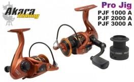 Fixed spool reel AKARA «Pro Jig» PJF-1000A (5+1 bb, 0,25/110 mm, 5,1:1) with spare spool