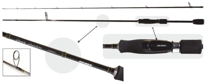 Makšķerkāts AKARA «BLACK SHADOW TX-30» SL1001 2X (saliek., 2,44 m, oglekļšķ., 125 g, tests: 3,5-10,5 g)