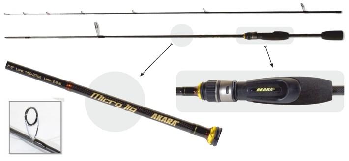 Makšķerkāts AKARA «MICRO JIG TX-30» SL1003 2X (saliek., 2,10 m, oglekļšķ., 97 g, tests: 0,6-8 g)