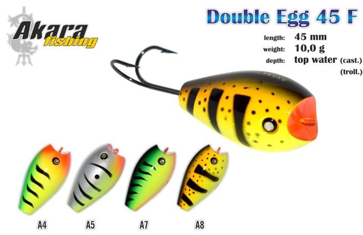 Vobleris AKARA «Double Egg» 45 F (10 g, 45 mm, krāsa A36, iep. 1 gab.)