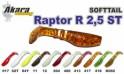 Silikona māneklis AKARA SOFTTAIL «Raptor R 2,5 ST» (63 mm, krāsa 017, iep. 4 gab.)