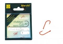 Крючки MARUTO 1143 (№ 16, RED, универсальные, упак. 8 шт.)
