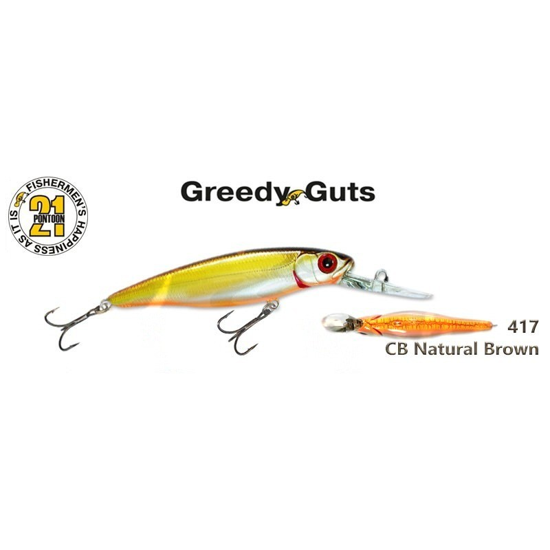 Воблер PONTOON 21 Greedy GUTS MDR 77F - 417