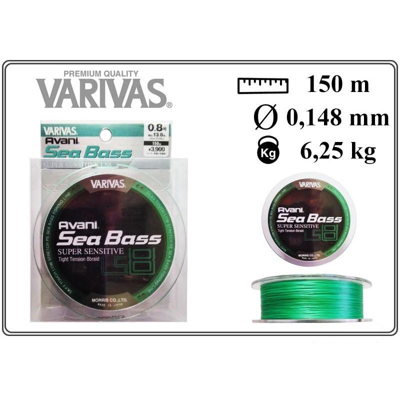 Pītā aukla VARIVAS Sea BASS x8 LS - 0.8