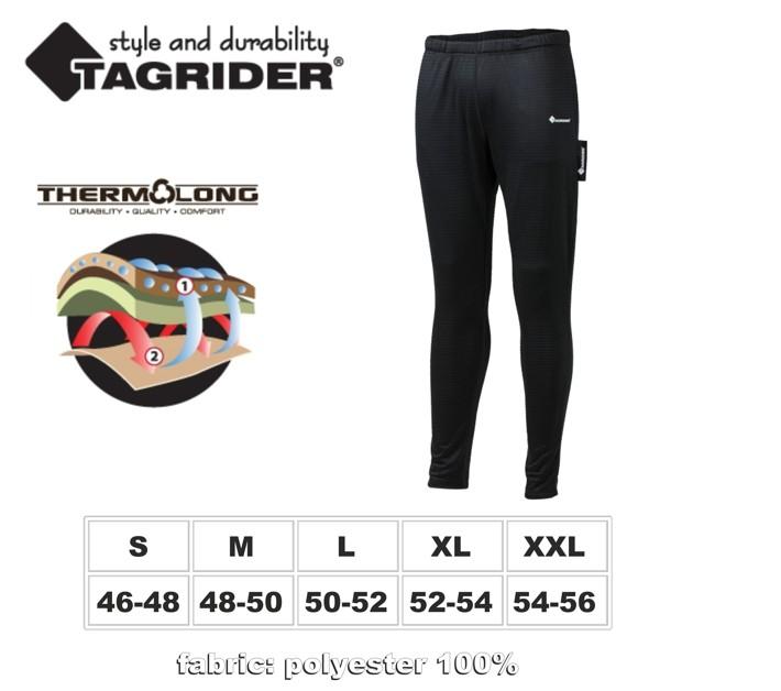 Termo apakšbikses TAGRIDER «Black Armour» (izmērs: XL, krāsa: melna)