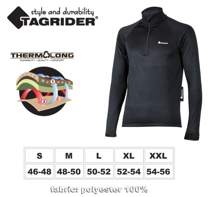 Termo apakškrekls TAGRIDER «Black Armour» (izmērs: XXL, krāsa: melna)