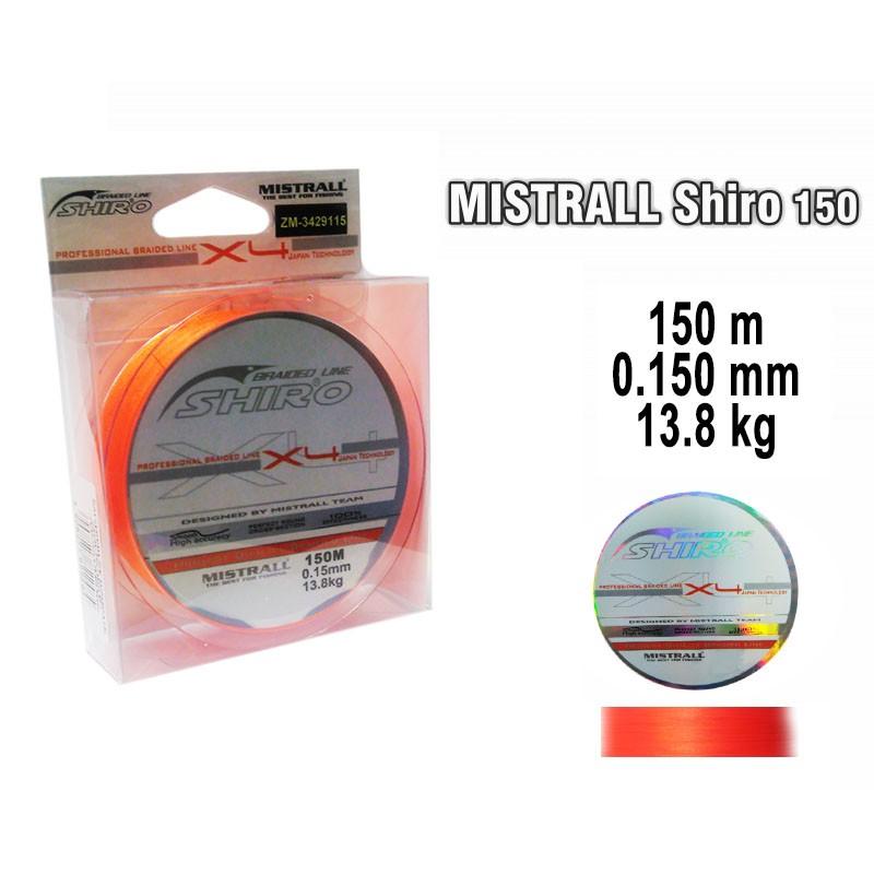 Плетеная леска MISTRALL Shiro or - 0.15