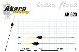 @ Pludiņš AKARA 020 (balsa, 0,3 g, 15,5 cm, iep. 10 gab.)