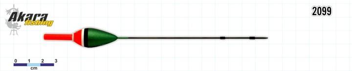 Поплавок AKARA 2099 (бальса, 1,0 г, 17,0 см, упак. 10 шт.)