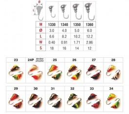 Mormiška «SKUDRA» Nr. 13 ar austiņu (4,8 mm, 1,8 g, krāsa: 34, iep. 10 gab.)