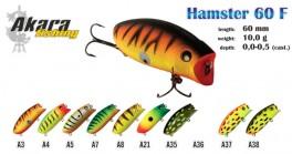 Vobleris AKARA «Hamster» 60 F (10 g, 60 mm, krāsa A7, iep. 1 gab.)