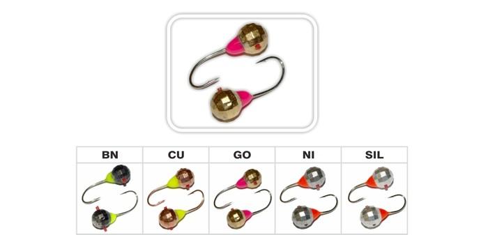 Мормышка «ШАР многогранка» № 16 CP (кембрик, фосфор) с отверстием (6 мм, 2 г, цвет: BN, упак. 10 шт.)