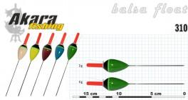 Pludiņš AKARA 310 (balsa, 3,0 g, 15,0 cm, iep. 10 gab.)