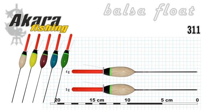 Pludiņš AKARA 311 (balsa, 5,0 g, 18,0 cm, iep. 10 gab.)
