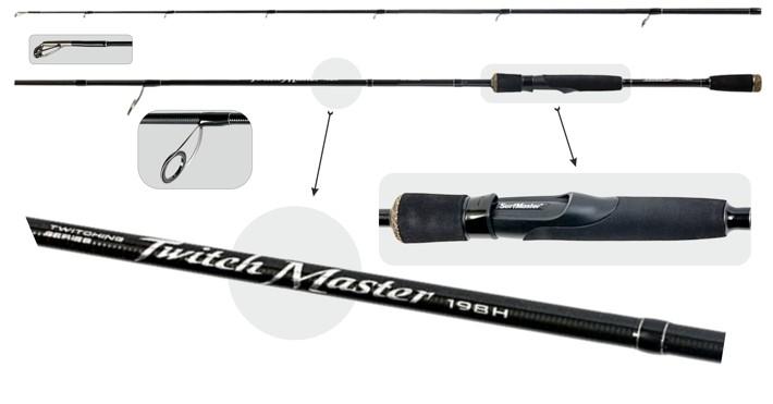@ Удилище SURF MASTER «TWITCH Master TX-30» 2X (штек., 1,98 м, карб., 121 г, тест: 14-42 г) H