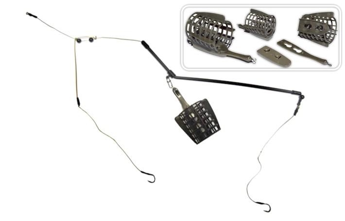 Gruntsmakšķeres sistēma MON-F 30 g (pamats 38 cm, 0,20 mm, āķis Nr. 8, iep. 1 gab.)
